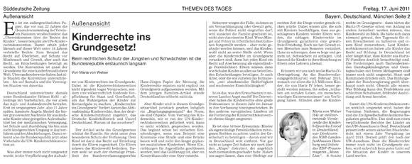 Maria von Welser: Kommentar in der Süddeutschen Zeitung
